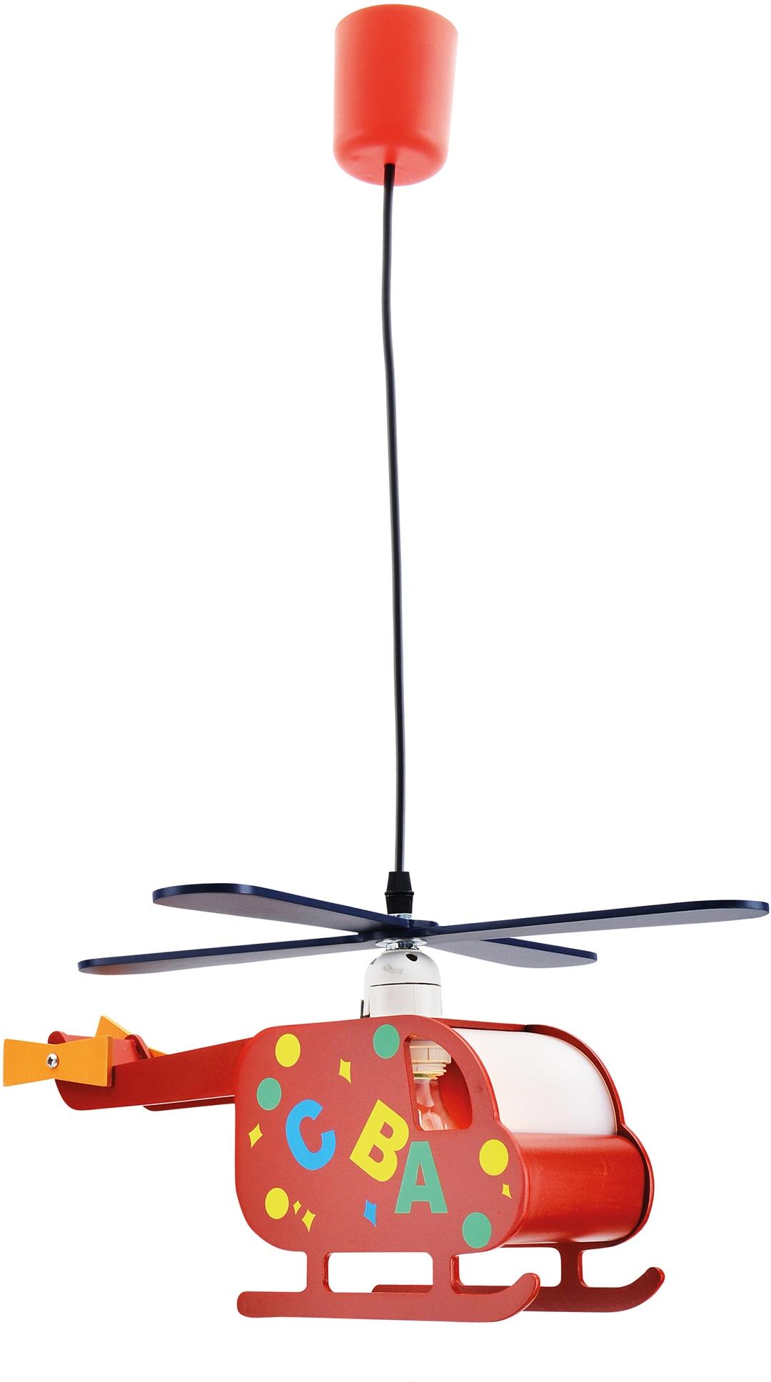 näve Pendelleuchte Hubert, E27, 1 St., Form eines Hubschraubers