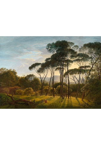 Art for the home Leinwandbild »Italienische Landschaft mit Pinien«, Blumen, Italienische Landschaft mit Pinien, 70x100cm kaufen