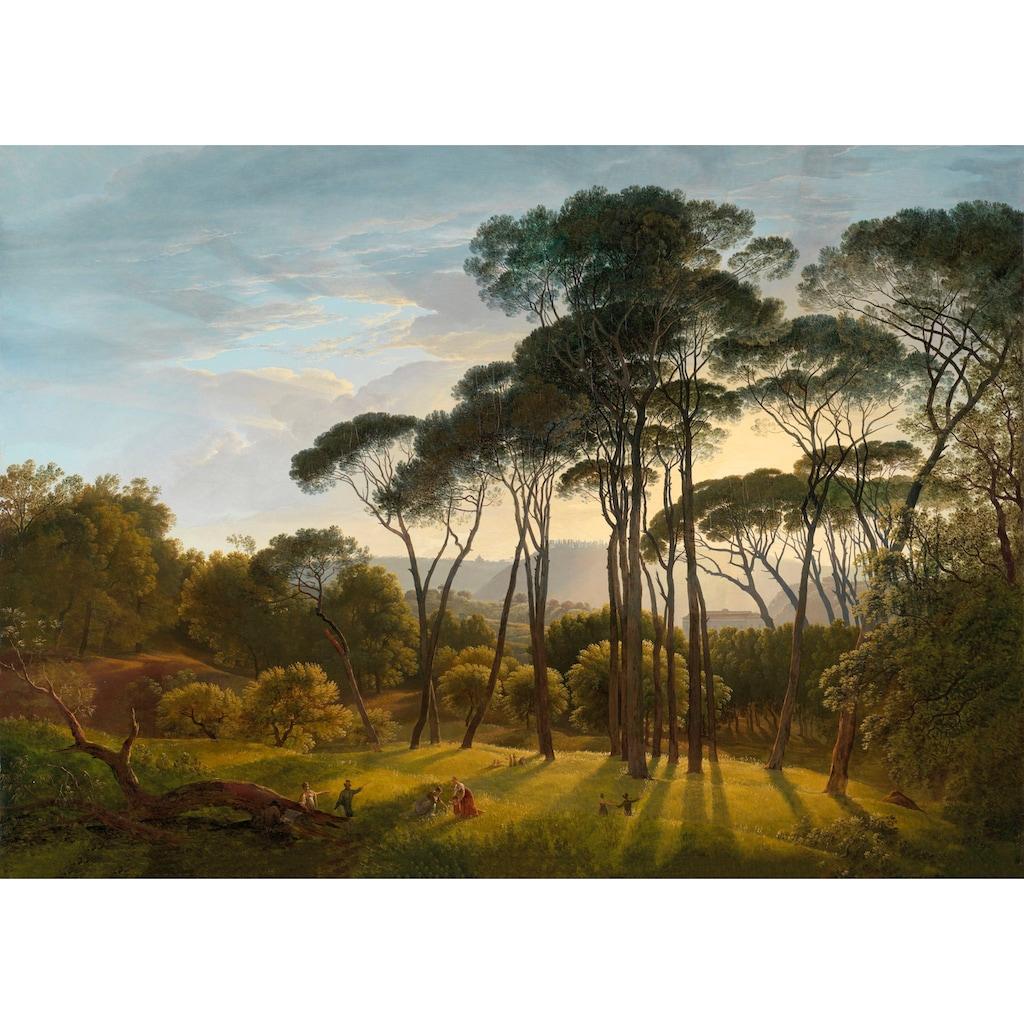 Art for the home Leinwandbild »Italienische Landschaft mit Pinien«, Blumen, Italienische Landschaft mit Pinien, 70x100cm