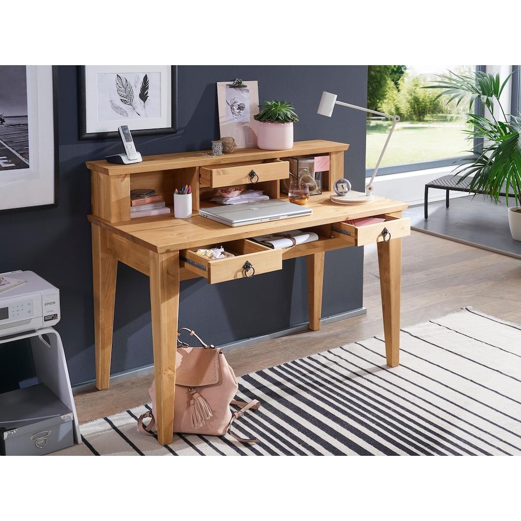 Premium collection by Home affaire Schreibtisch »Brasilia«, aus Massivholz, hochwertig verarbeitet