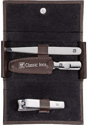 Zwilling Maniküre-Etui »CLASSIC INOX DRUCKKNOPF-ETUI BRAUN«, mit Nagelknipser kaufen