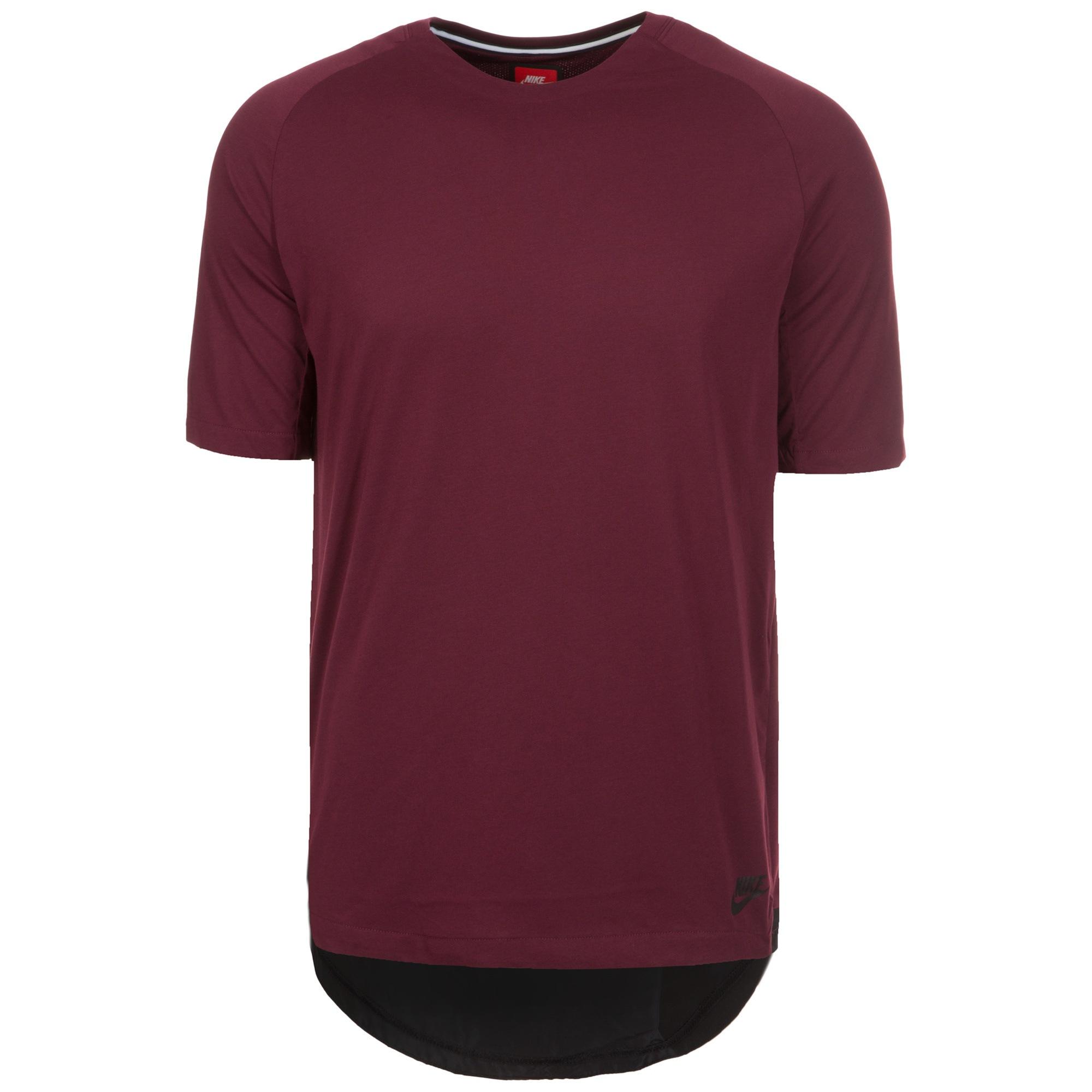 Nike Sportswear Bonded T-Shirt Herren | Sportbekleidung > Sportshirts > Poloshirts | Rot | Polyester - Baumwolle | NIKE SPORTSWEAR