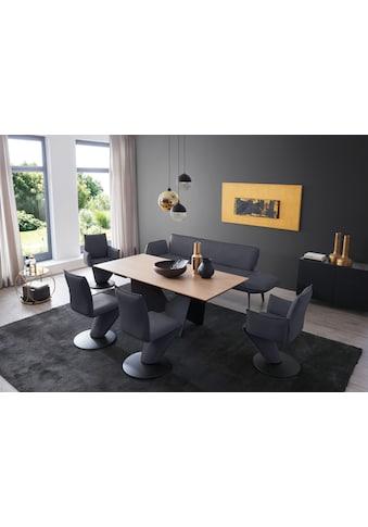 K+W Komfort & Wohnen Essgruppe »Drive«, (Set, 6 St.), Solobank mit Armteilverstellung, 2 Drehstühle, 2 Drehsessel und Tisch mit Auszugfunktion 200-300cm kaufen