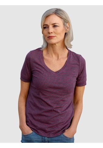 Dress In T-Shirt, mit Streifen kaufen