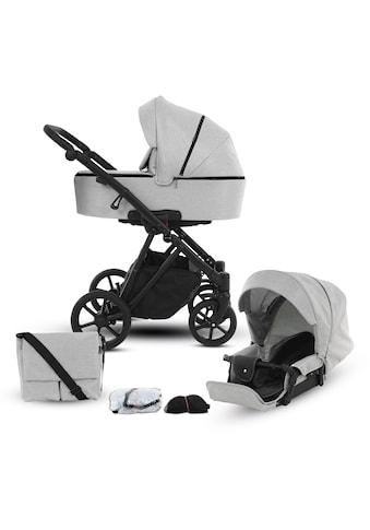 Knorrbaby Kombi-Kinderwagen »Luzon Black Edition, Hellgrau«, 15 kg, Gestell faltbar;... kaufen