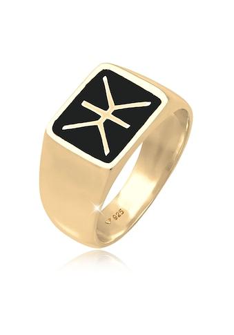 Kuzzoi Siegelring »Herren Siegelring Emaille Logo Basic 925 Silber« kaufen