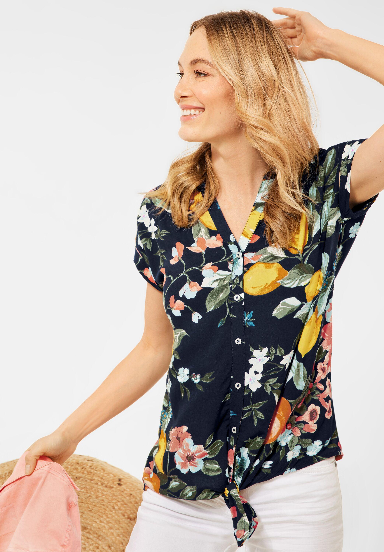 cecil -  Hemdbluse, mit Knotendetail