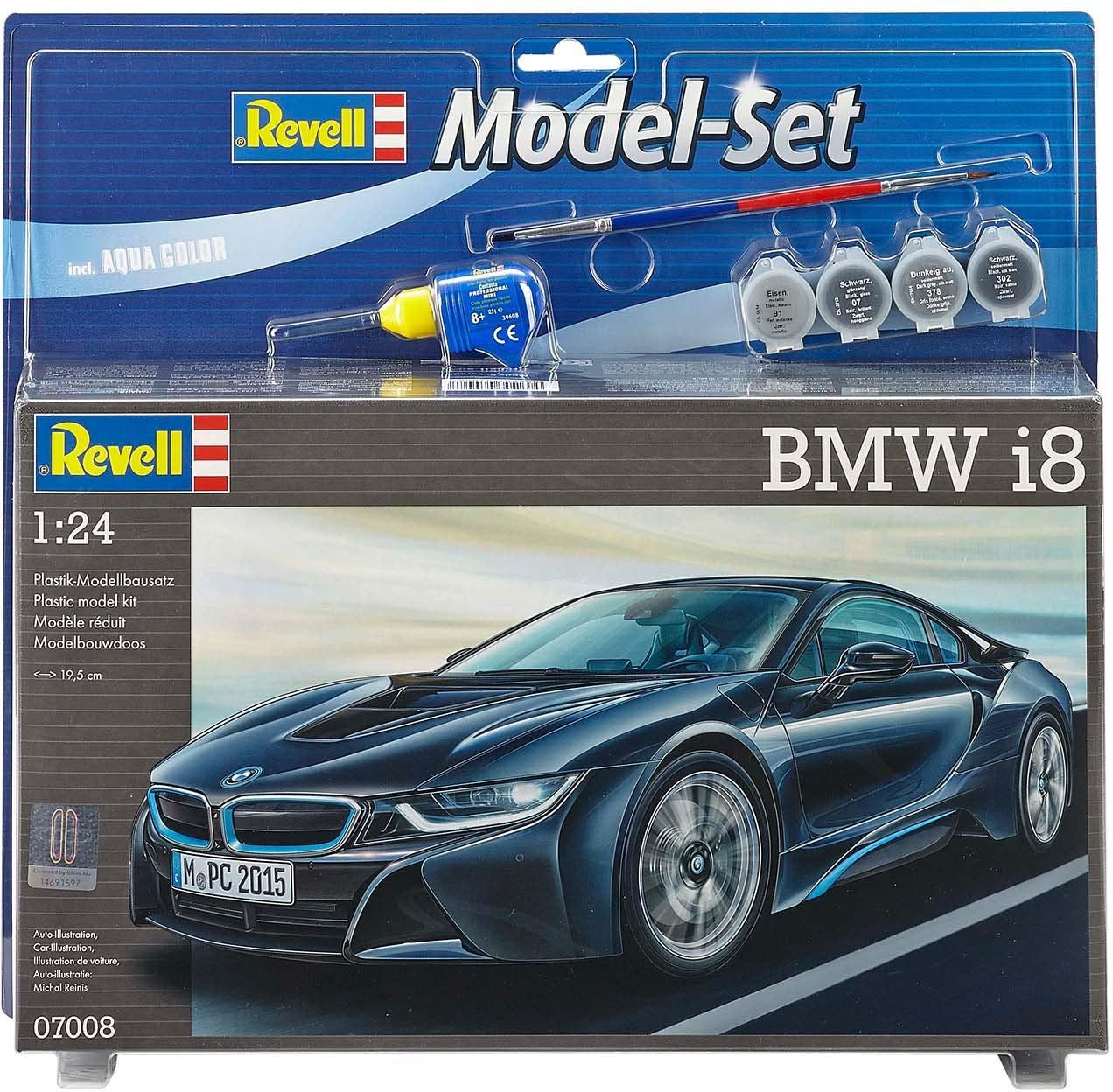Revell® Plastik-Modellbausatz Auto mit Zubehör, Maßstab 1:24,  Model Set BMW i8  Preisvergleich