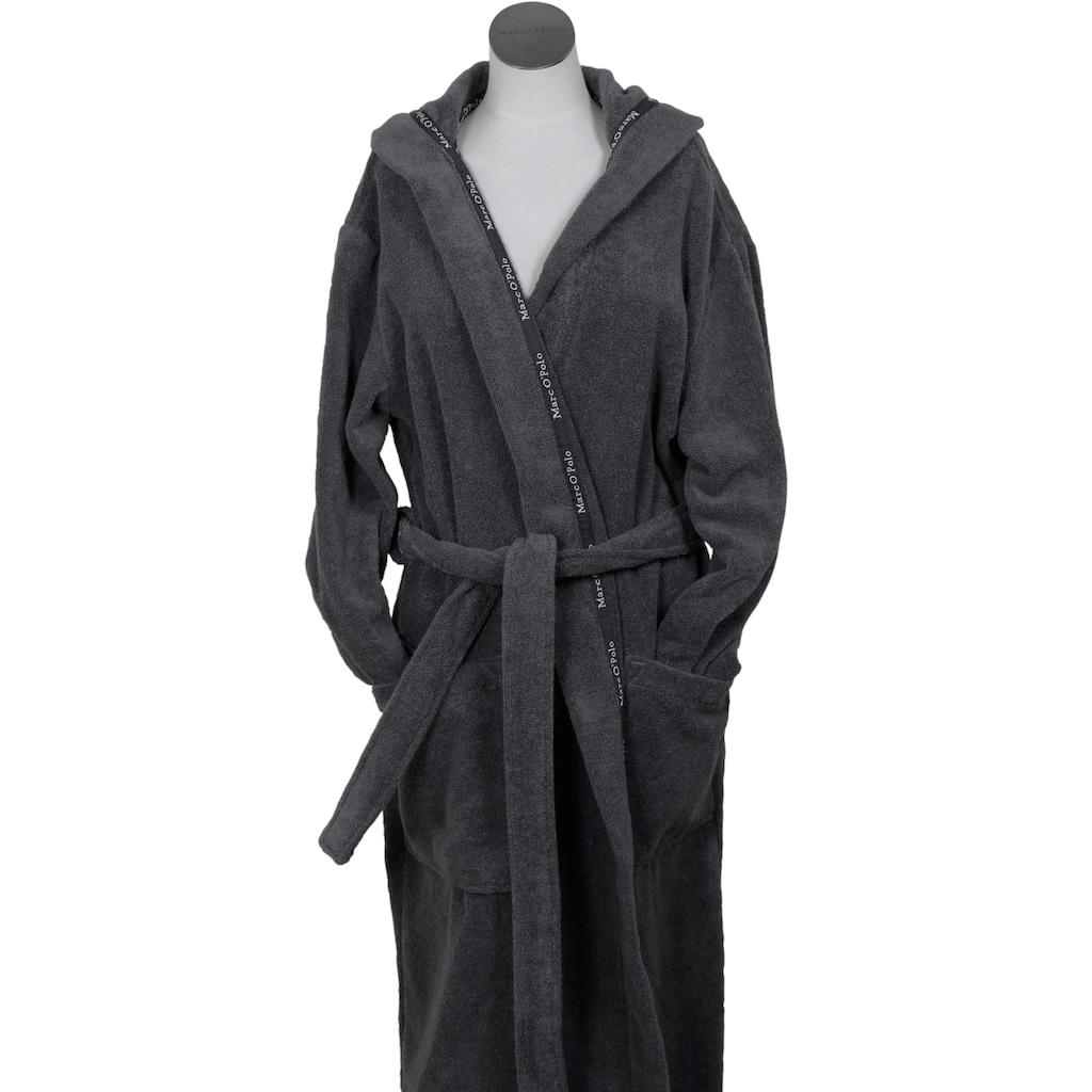 Marc O'Polo Home Unisex-Bademantel »Classic Hood«, (1 St.), Borte mit Markenlogo