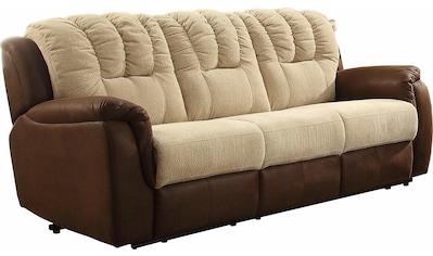 Home affaire 3-Sitzer »Petra«, mit Relaxfunktion im Bezug-Mix kaufen