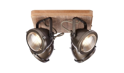Brilliant Leuchten Carmen Wood Spotplatte 4flg burned steel/holz kaufen