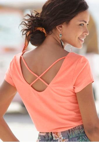 s.Oliver Beachwear Kurzarmshirt, mit gekreuzten Bändern im Rücken kaufen