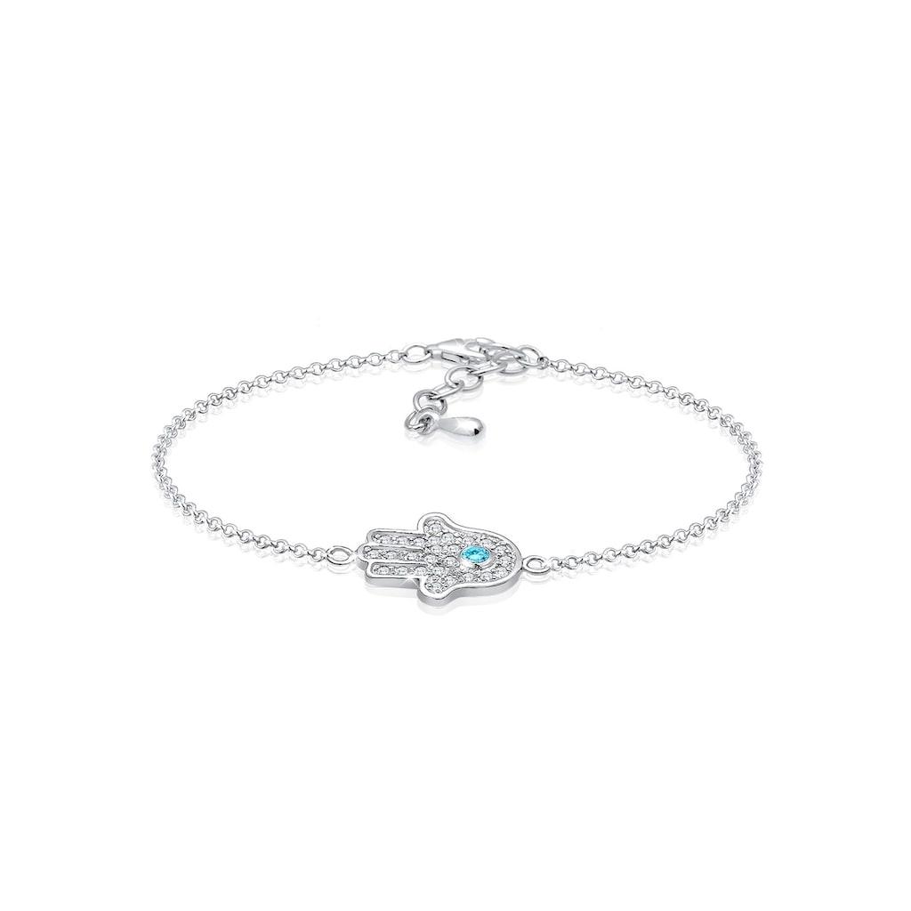 Elli Armband »Hamsa Hand Zirkonia 925 Sterling Silber«
