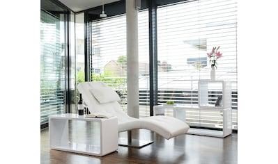 SalesFever Relaxsessel, mit Nackenkissen, Relaxliege mit modernem Metallfuß kaufen