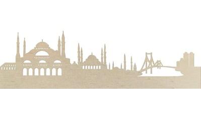 Wanddekoobjekt »Pappel Furnier  -  Skyline Istanbul« kaufen