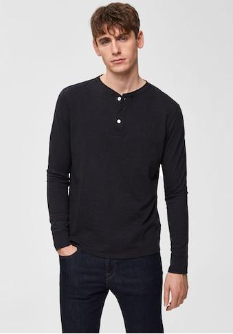 SELECTED HOMME Langarmshirt »BEN OVERDYE LS SPLIT NECK TEE« kaufen