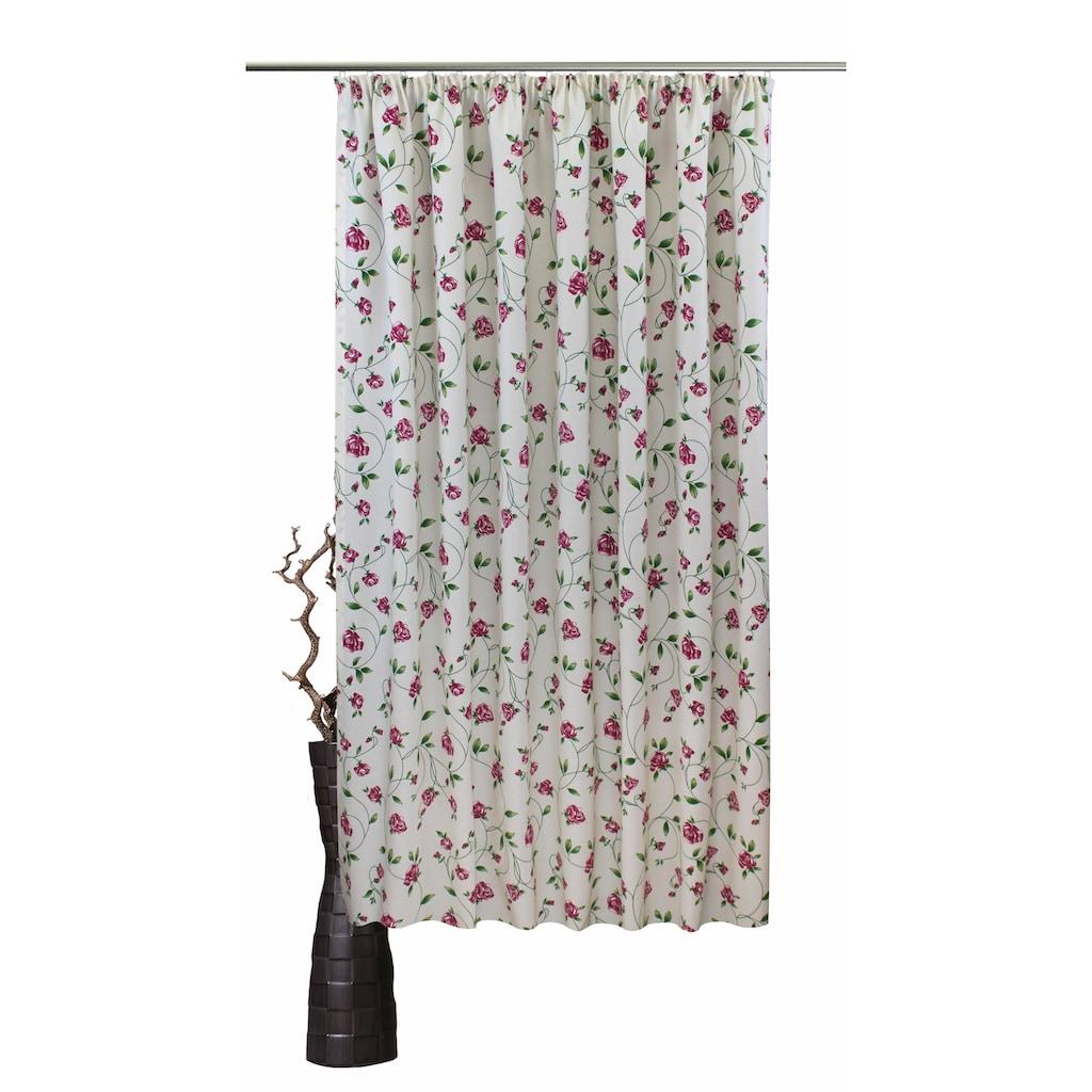 VHG Vorhang nach Maß »Miri«, Leinenoptik, Rose, Streifen, Breite 150 cm