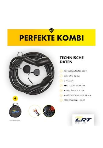 LRT E-Mobility Autoladekabel, 700 cm, EZ02 Typ 2 IEC62196 Ladekabel 3-phasig 11/22 kW,... kaufen