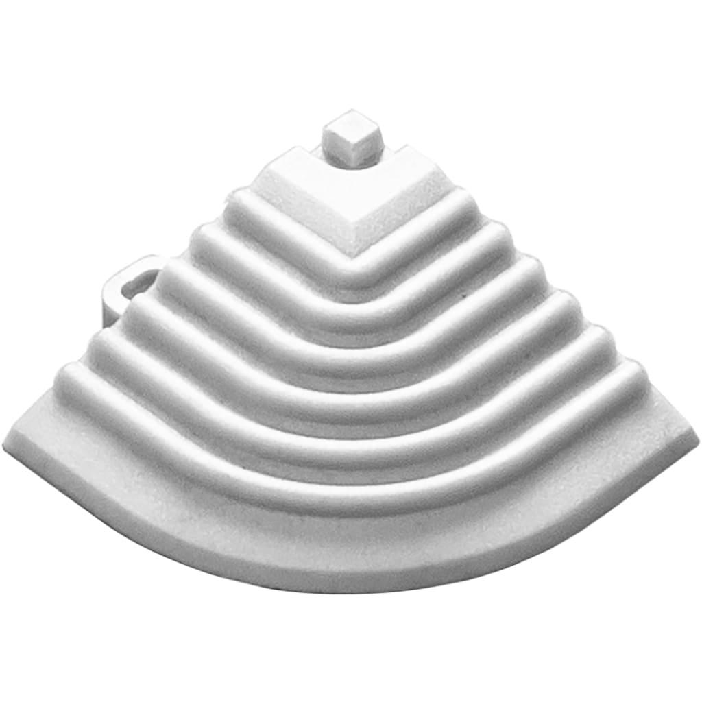 florco® Klickfliesen-Eckleiste, Eckteil weiß, 40 cm