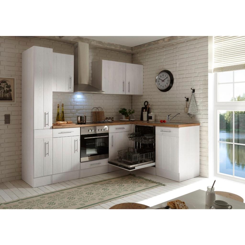 RESPEKTA Winkelküche »Ulm«, mit E-Geräten, Stellbreite 250 x 172 cm