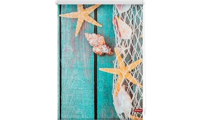 Seitenzugrollo »Klemmfix Motiv Bretter Beach«, LICHTBLICK, Lichtschutz, ohne Bohren, freihängend kaufen