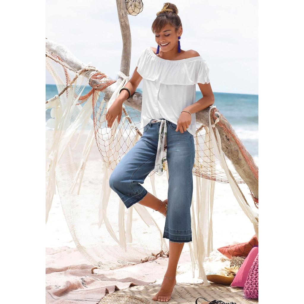 Buffalo Culotte-Jeans, mit ausgefransten Abschlüssen