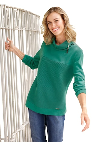 Casual Looks Pullover mit offenem Kragen kaufen