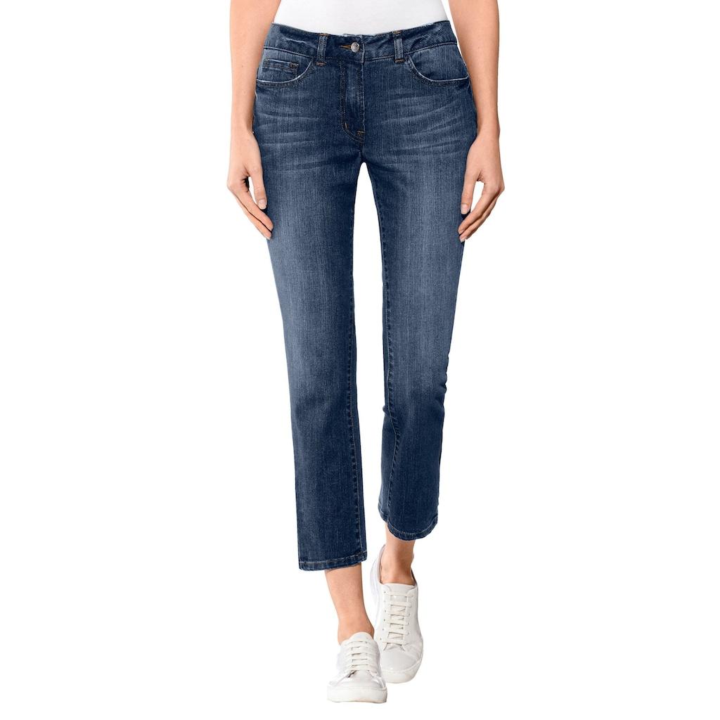 Alba Moda Bootcut-Jeans mit Hosenkeil in modischer Waschung