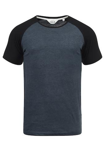 Solid Rundhalsshirt »Bastian«, Kurzarmshirt im Baseball-Look kaufen