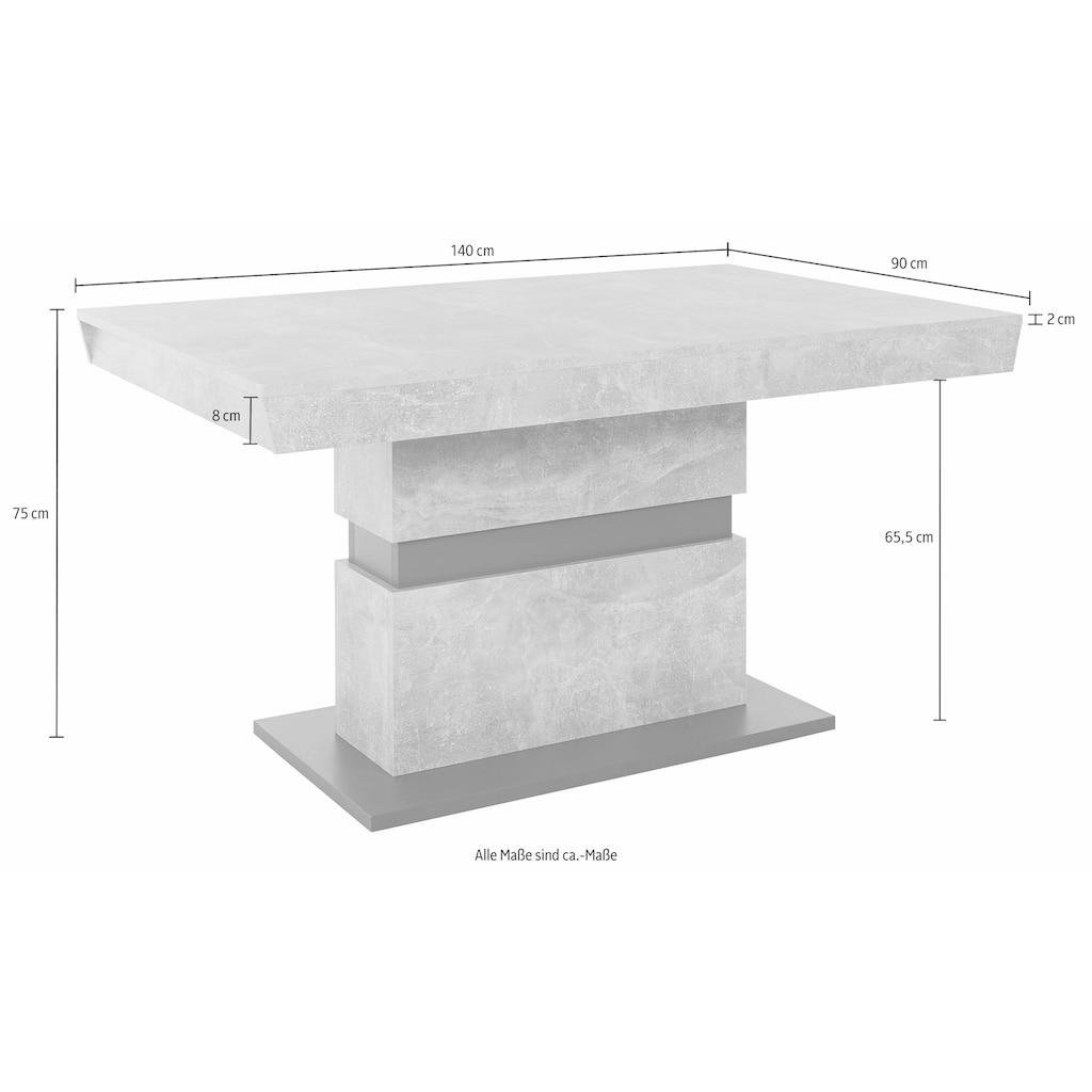 Homexperts Säulen-Esstisch »Marley«, Breite 140 oder 160 cm