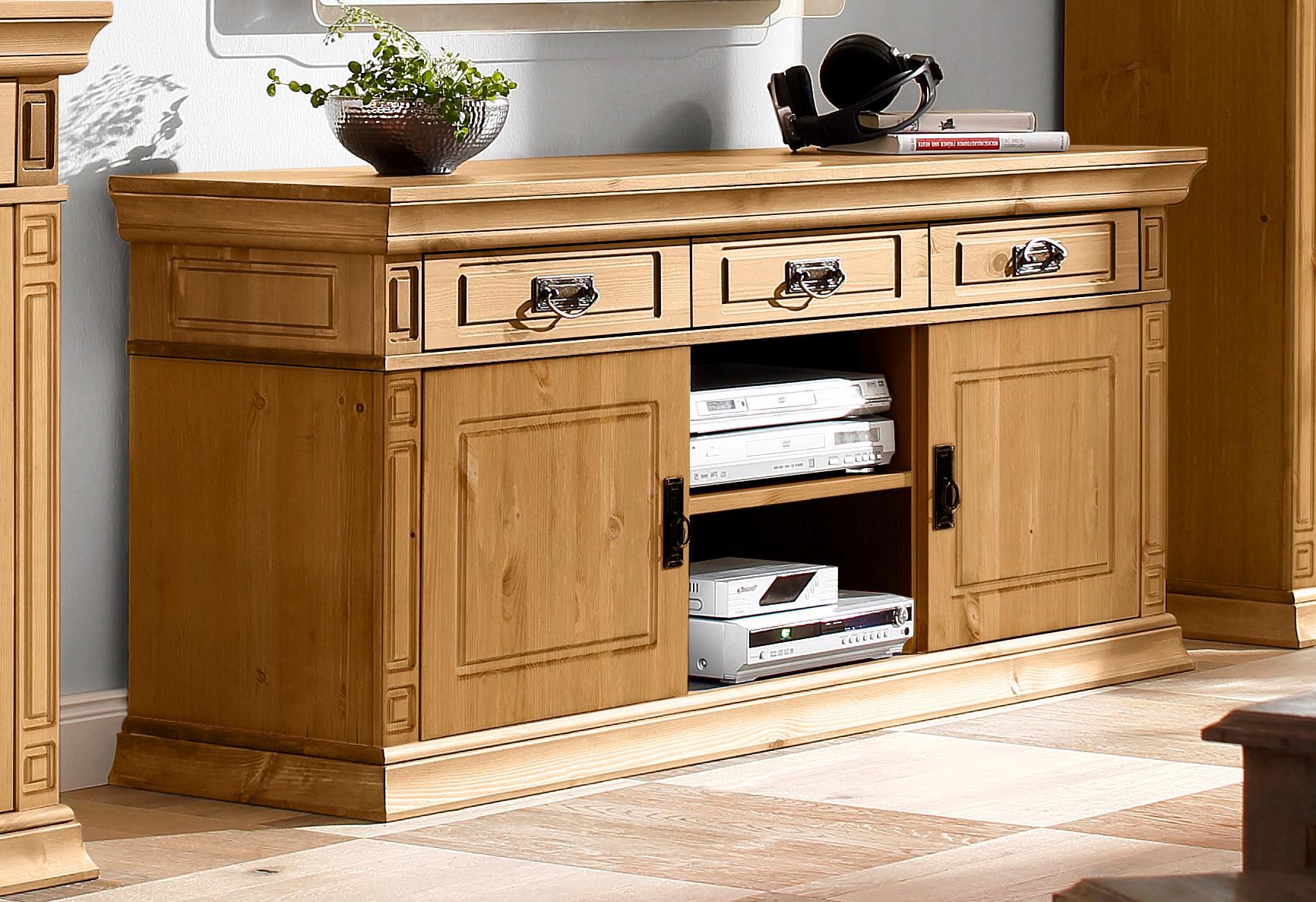 Home affaire TV-Lowboard Vinales Breite 158 cm mit 3 Schubladen