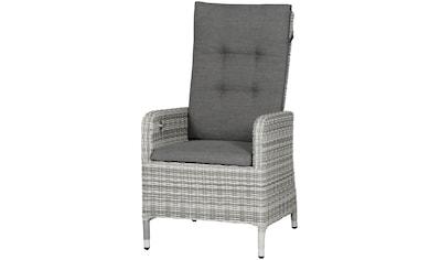Siena Garden Loungesessel »Cando Dining Sessel«, Alu/Polyrattan, grau, inkl. Auflagen kaufen