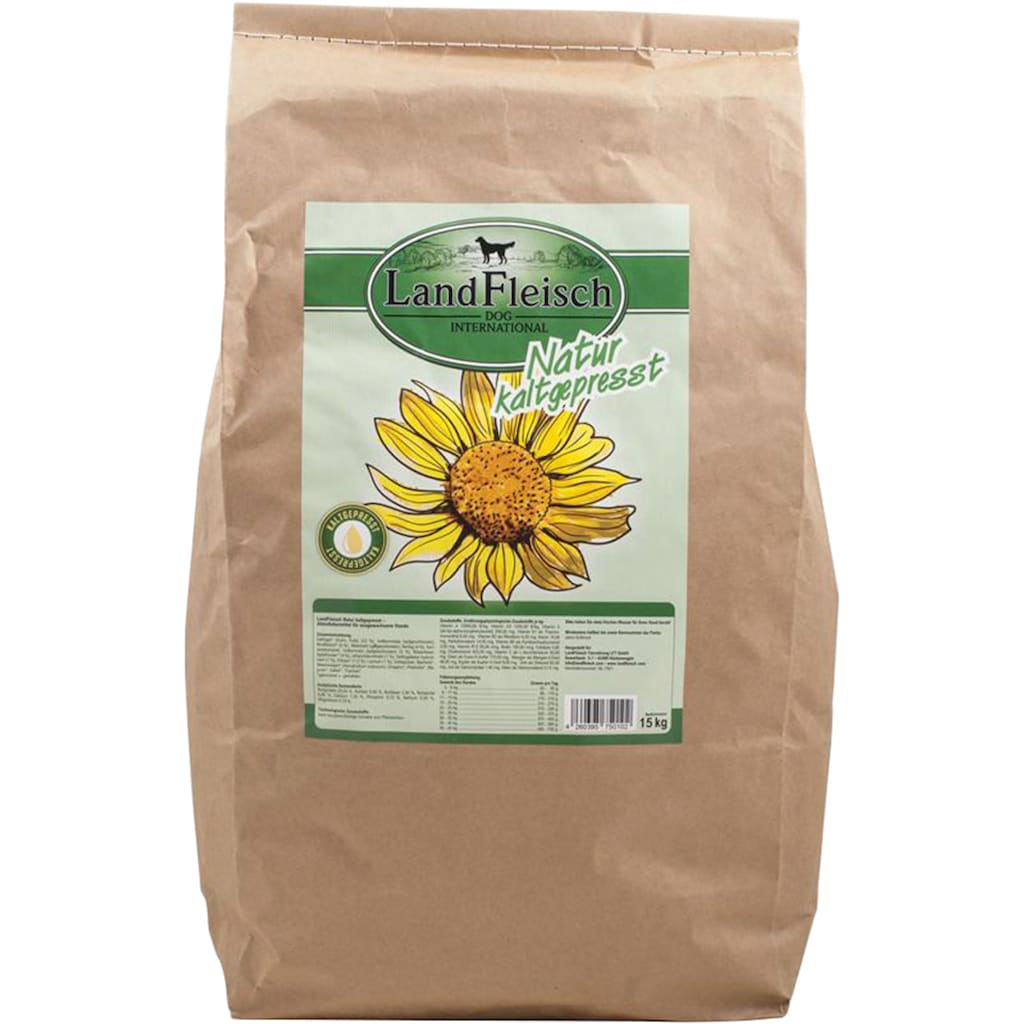 LANDFLEISCH Trockenfutter »Natur Kaltgepresst«, (1), 15 kg