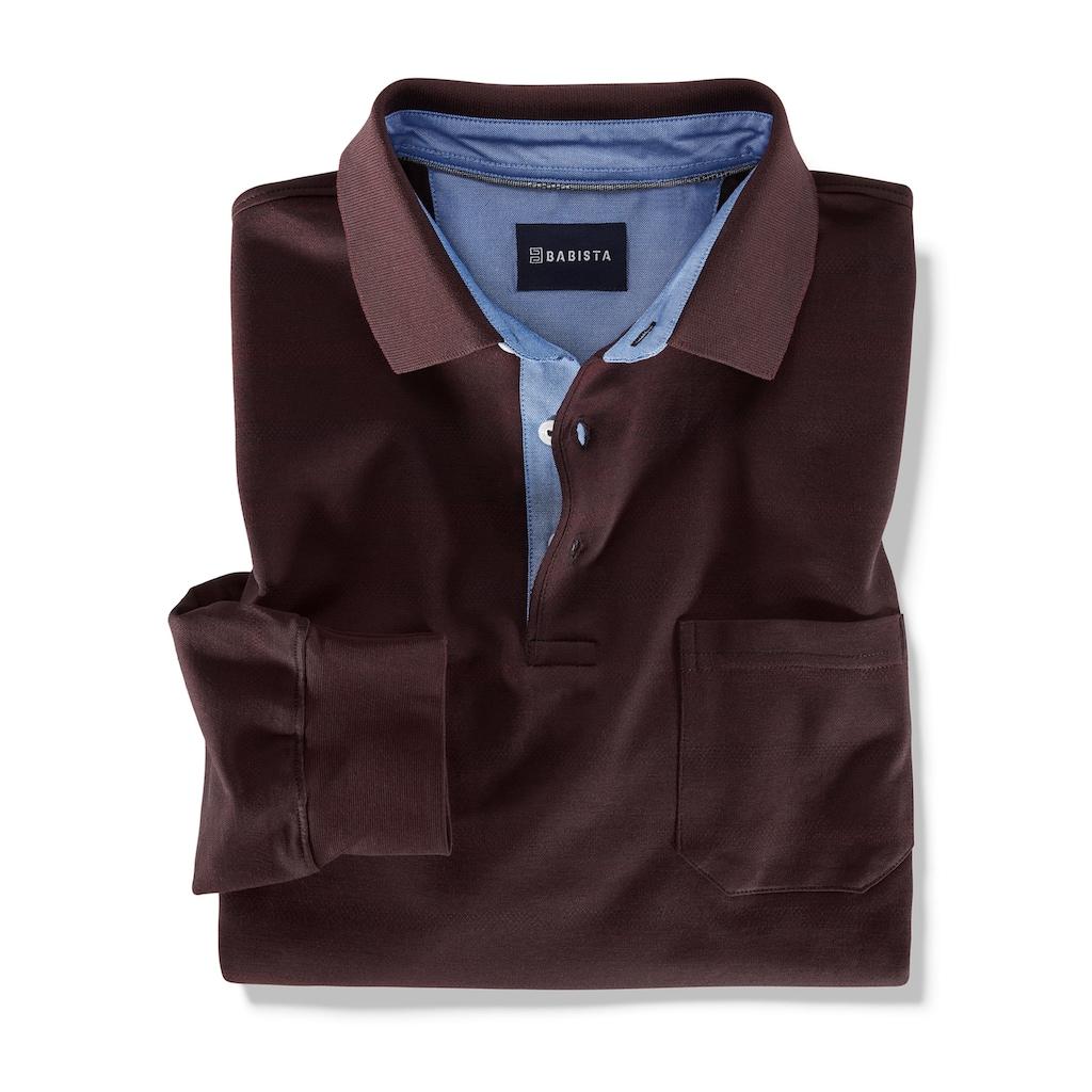Babista Poloshirt mit Jaquardmuster