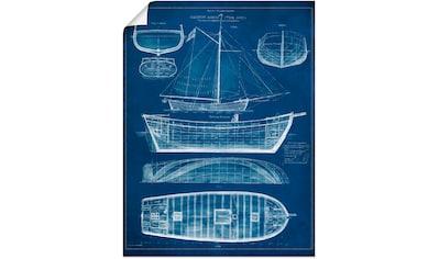 Artland Wandbild »Entwurf für ein Antikes Schiff II« kaufen