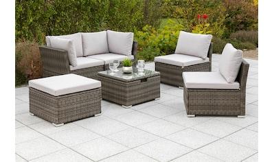 MERXX Gartenmöbelset »Malaga«, (2 tlg.), Eckset mit höhenverstellbarem Tisch kaufen