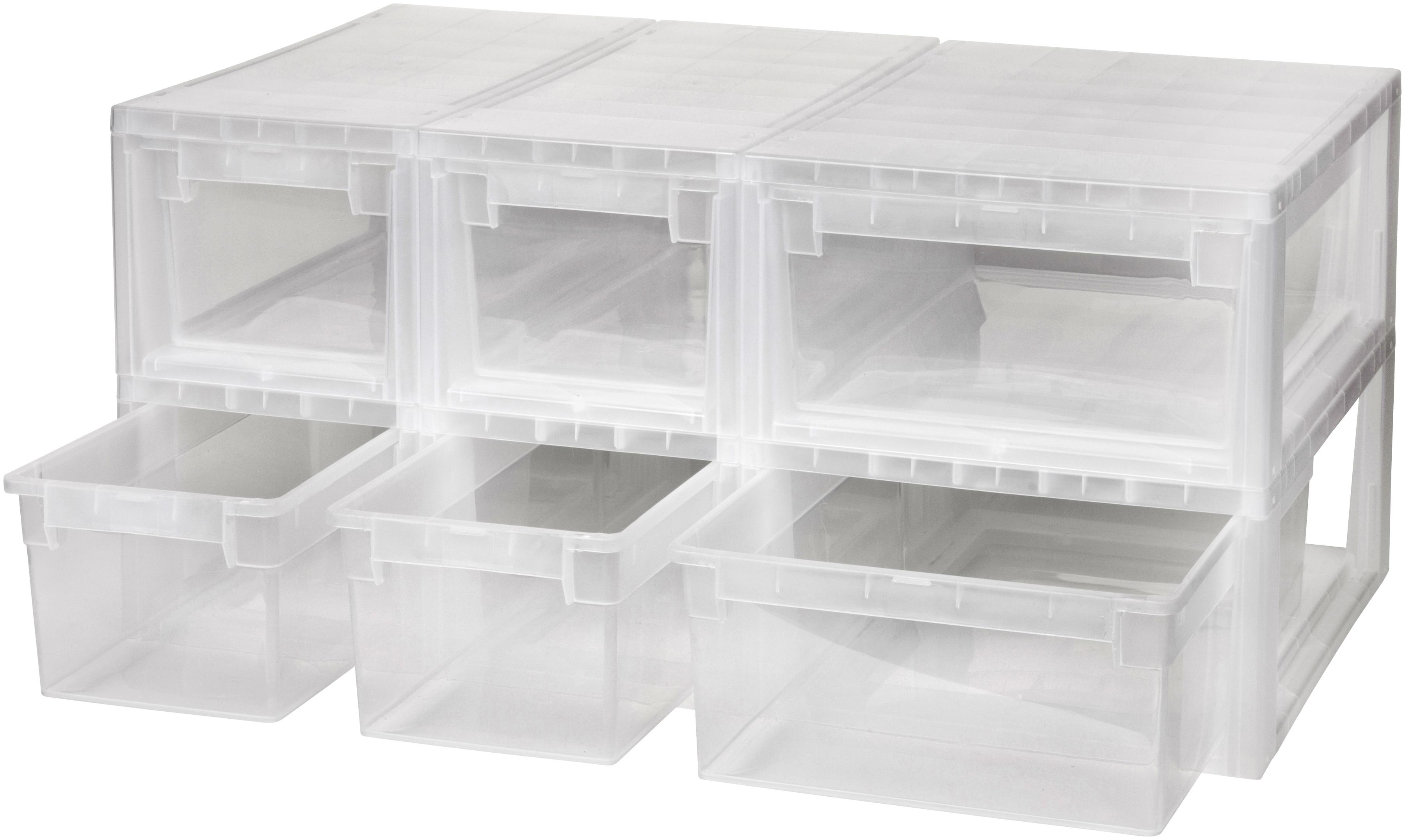 Kreher Aufbewahrungsbox, (Set, 6 St.) farblos Kleideraufbewahrung Aufbewahrung Ordnung Wohnaccessoires Aufbewahrungsbox