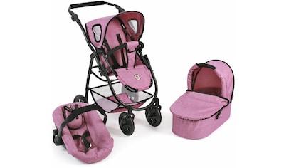 CHIC2000 Kombi-Puppenwagen »Emotion All In 3in1, Pink«, inkl. Babywanne, Babyschale... kaufen