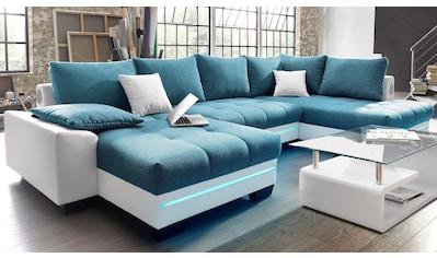 Nova Via Wohnlandschaft, wahlweise mit Kaltschaum (140kg Belastung/Sitz) und Bluetooth-Soundsystem, sowie RGB-LED-Beleuchtung kaufen