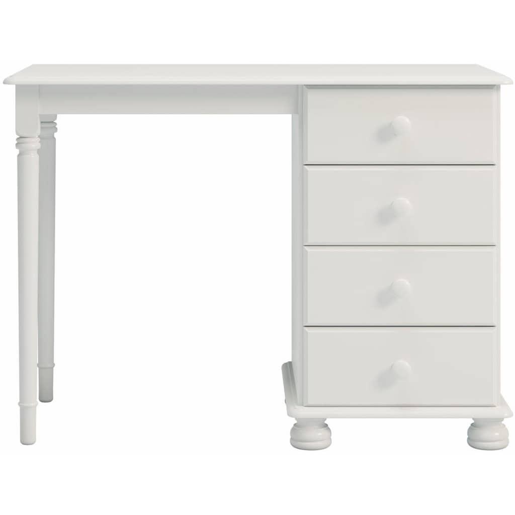 Home affaire Schreibtisch »Richmond«, mit 4 Schubladen, Breite 100 cm