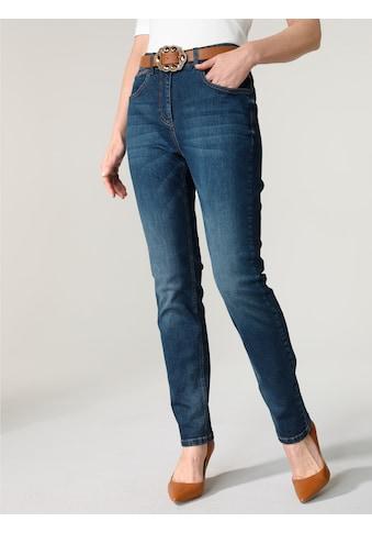 Mona Gerade Jeans, mit Waschung kaufen