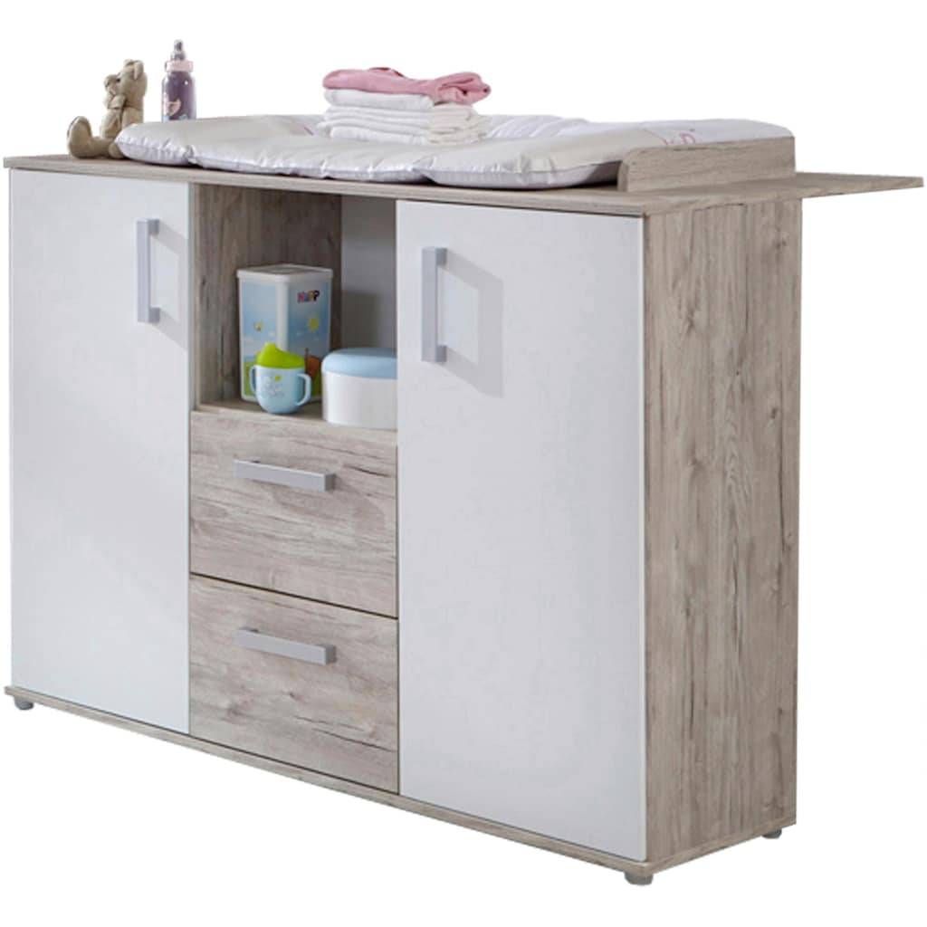 arthur berndt Babyzimmer-Komplettset »Bente«, (Set, 3 St.), Made in Germany; mit Kinderbett, Schrank und Wickelkommode