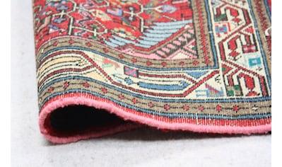 morgenland Wollteppich »Rudbar Teppich handgeknüpft rot«, rechteckig, 7 mm Höhe,... kaufen