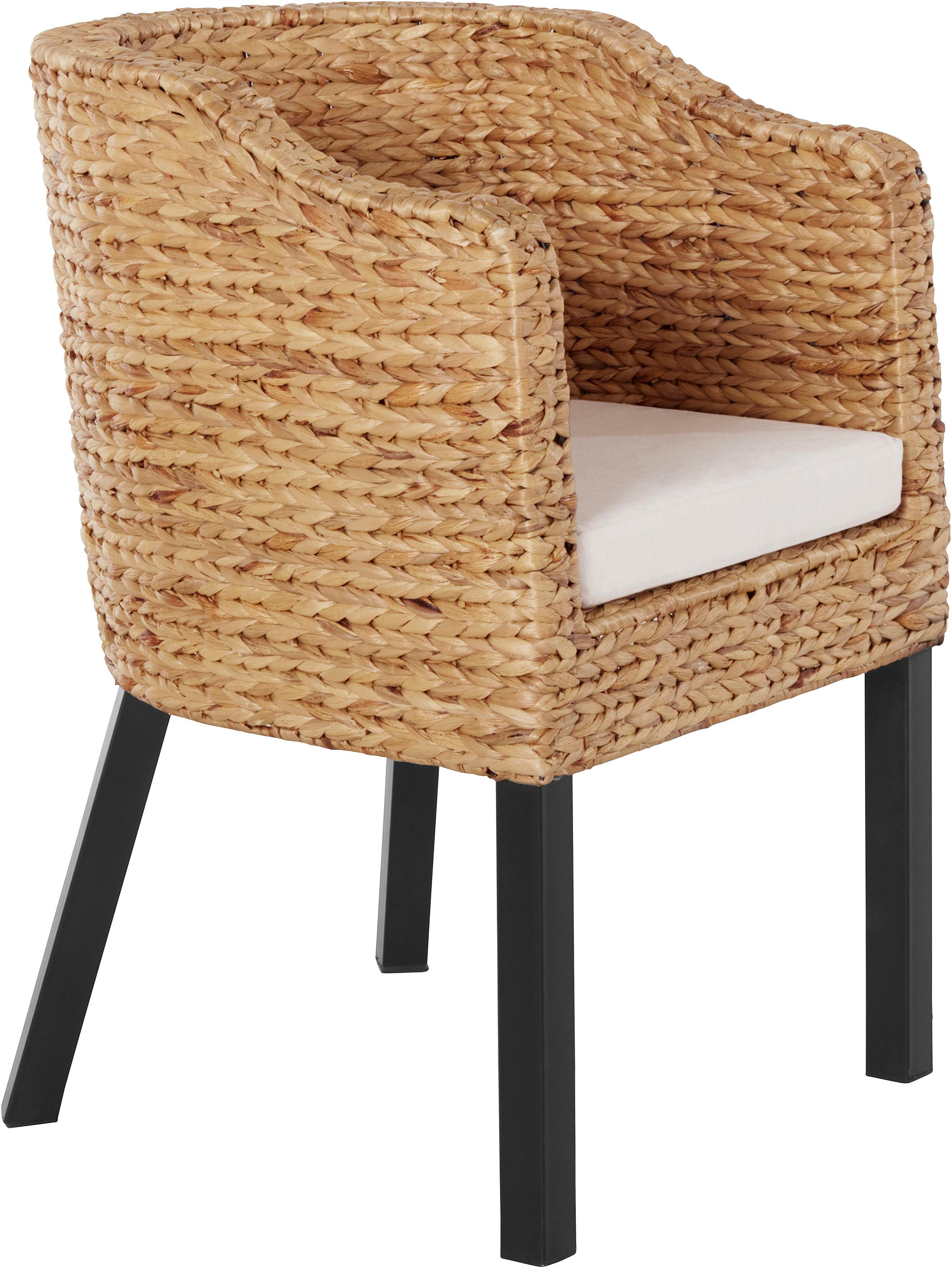 Home affaire Stuhl aus Wasserhyazinthe inkl Kissen