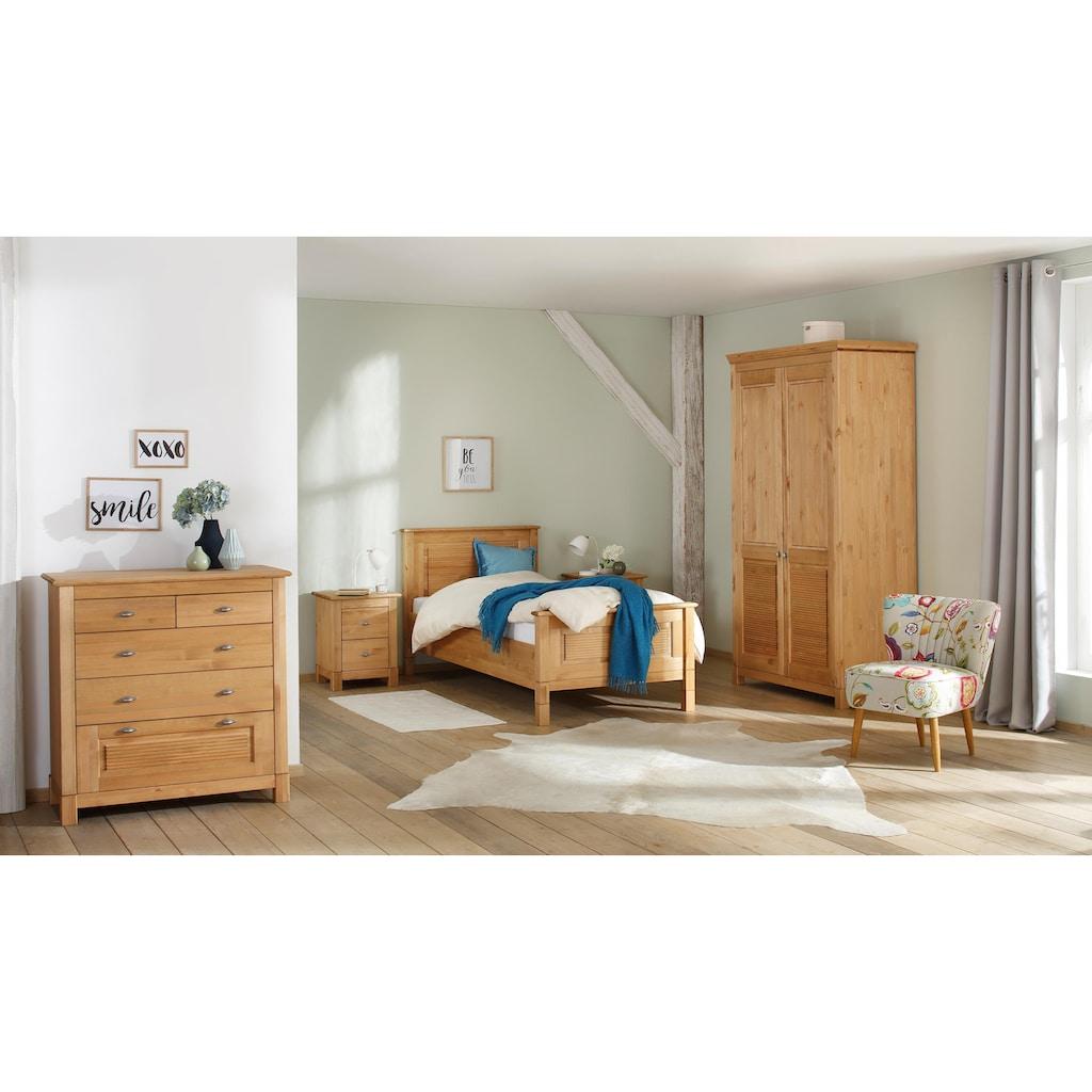Home affaire Kommode »Rauna«, aus massiver Kiefer mit 5 Schubladen, Breite 97 cm
