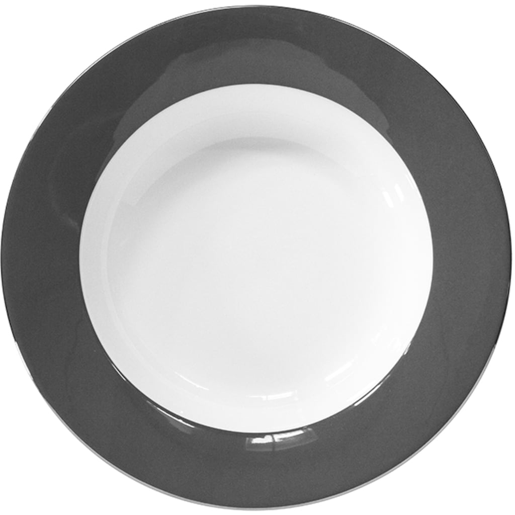 Fink Pastateller »Moments«, (Set, 4 St.), Ø 30 cm, Porzellan mit Platinumrand