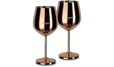 ECHTWERK Weinglas, (Set, 2 tlg.), PVD Beschichtung kaufen