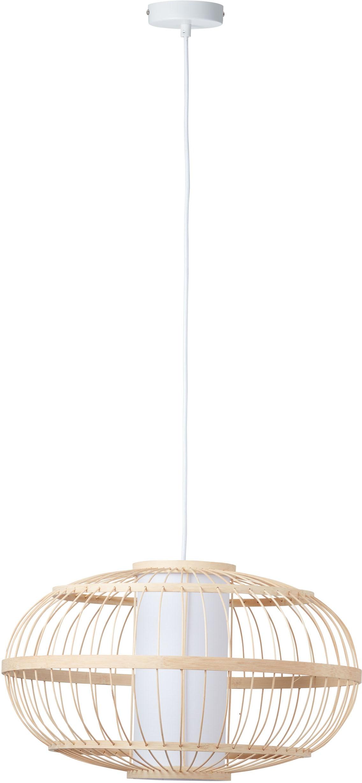 LeGer Home by Lena Gercke Pendelleuchte Almina, E27, Hängelampe aus Bambus und Textil, Ø 48cm