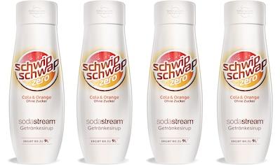 SodaStream Getränke-Sirup, SchwipSchwap (Cola & Orange), ohne Zucker, (4 Flaschen),... kaufen