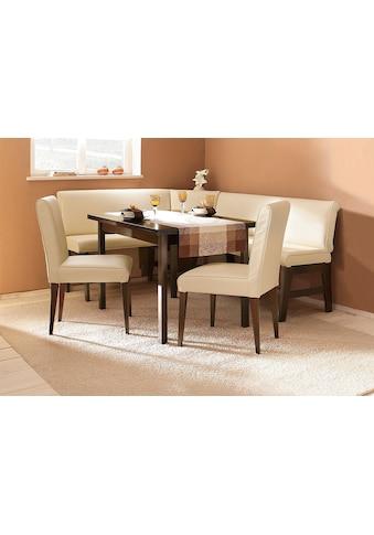 Eckbankgruppe »Susanne«, (Set, 4 tlg.), (Eckbank, Tisch und 2 Stühle), Bezug in Kunstleder, Eckbank langer Schenkel 205 cm, Tisch ist ausziehbar (Breite 120-180 cm) kaufen